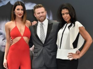 "Jacqueline MacInnes Wood, Jacob Young and Karla Mosley attend a photocall for the ""The Bold and the Beautiful"" TV series on June 15, 2015 in Monte-Carlo, Monaco. (Photo by Pascal Le Segretain/Getty Images) Steffy, Rick and Maya"