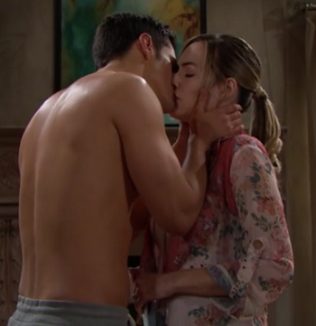 Bold and Beautiful 5/6/19 screencap - Thomas kisses Hope