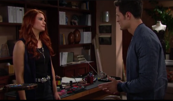 Bold and Beautiful 5/8/19 Sally yells at Thomas