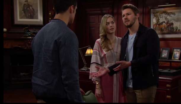 Bold and Beautiful 5/10/19 - Liam, Hope and Thomas