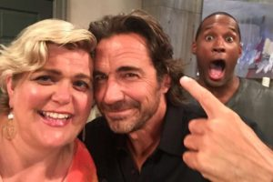 Andrea with Thorsten and Lawrence on B&B
