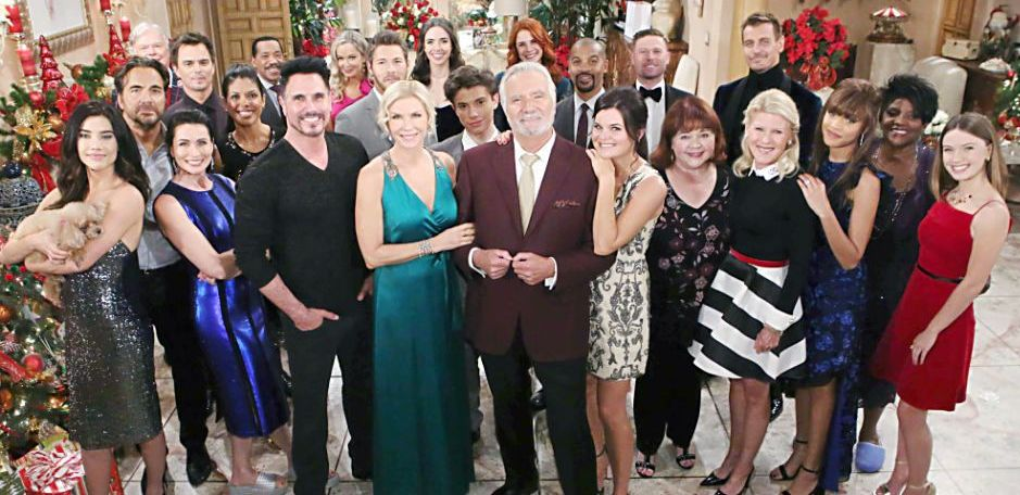Cast at Christmas - Bold and Beautiful