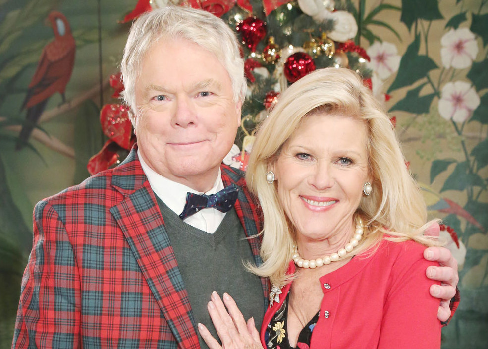 Charlie and Pam at Christmas