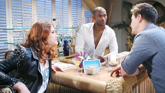 Danny, Wyatt and Sally on Bold and the Beautiful