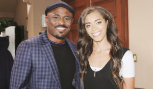 Zoe with her dad, Reese, on Bold and the Beautiful.