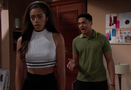 Zoe and Xander on The Bold and The Beautiful 5/31/19