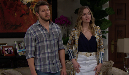 Liam and Hope on The Bold and The Beautiful 6/7/19