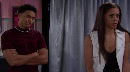 Xander and Zoe on The Bold and The Beautiful June 19, 2019
