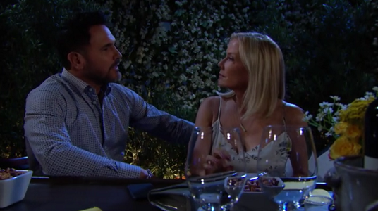 Bill and Brooke on The Bold and The Beautiful June 24, 2019