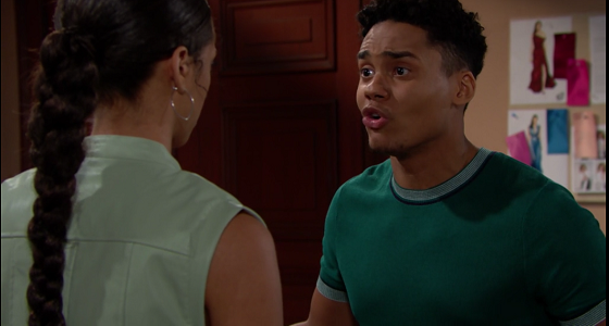 Xander and Zoe on The Bold and The Beautiful 7/8/19