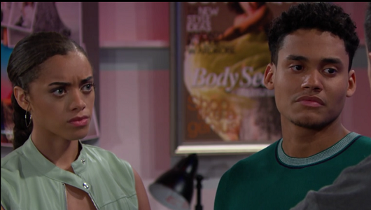 Zoe and Xander on The Bold and The Beautiful 7/11/19