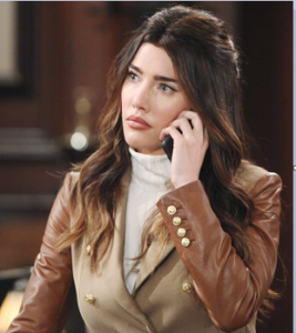 Steffy on phone