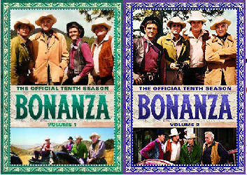 Bonanza: The Official Tenth Season, Volume One and Two DVD cover