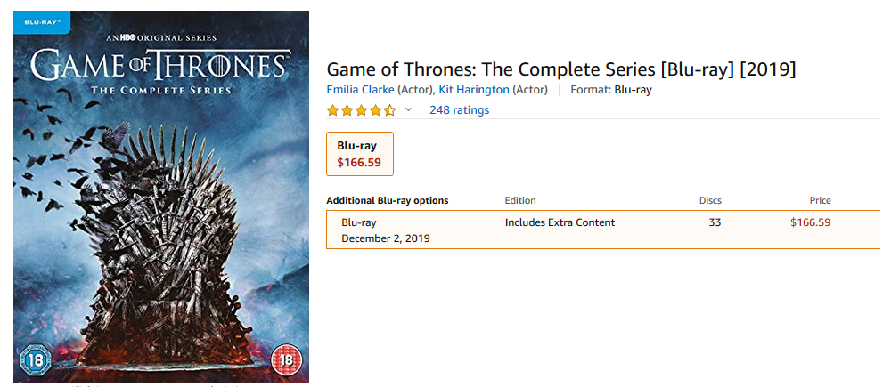 Complete Game of Thrones DVD cover
