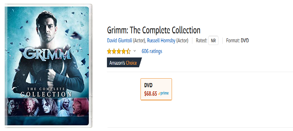 Grimm: The Complete Collection DVD cover