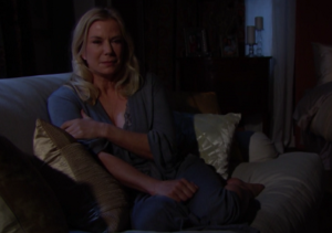 """Brooke cries in the dark, alone at home, on """"The Bold and the Beautiful"""""""