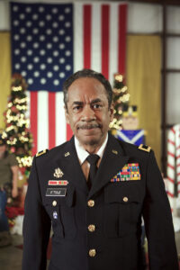 "Tim Reid as General O'Toole in ""A Welcome Home Christmas"" on Lifetime. Photo be Brandon Bassler."
