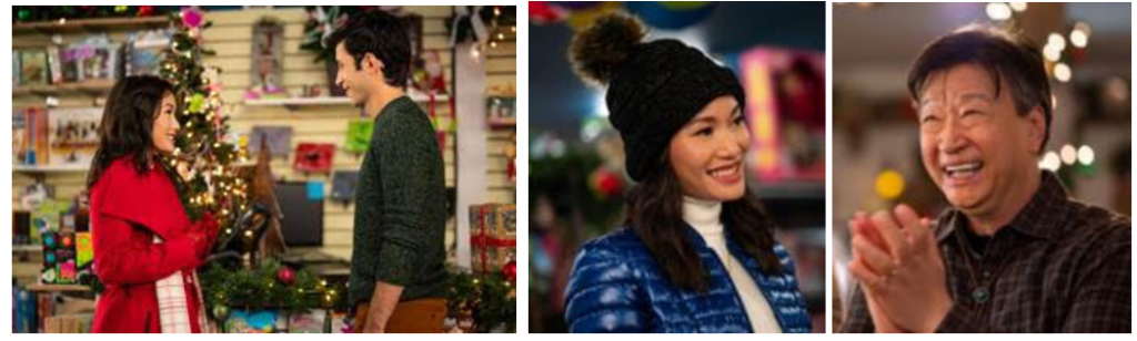 "Stills from of ""A Sugar & Spice Holiday"" on Lifetime 12/13/20"