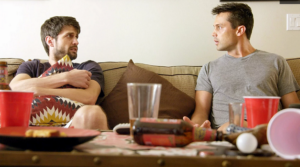 "Stephen Colletti (Seth) and James Lafferty (Jeremy) in ""Everyone Is Doing Great"" on HULU"