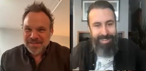 """Debris"" actors Norbert Leo Butz and Scroobius Pip"