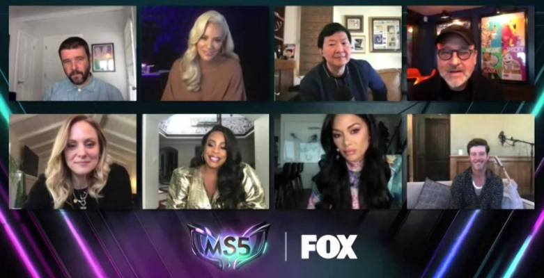 The Masked Singer cast at the FOX Winter TCAs
