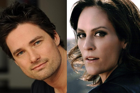 """Warren Christie and Annabeth Gish from """"Gone Mom"""" on Lifetime"""