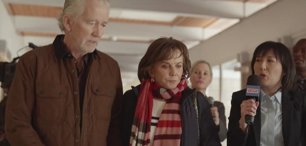 """Linda Purl and Patrick Duffy in """"Doomsday Mom: The Lori Vallow Story"""" on Lifetime"""