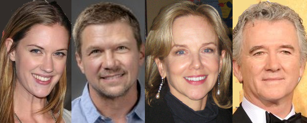 """Lauren Lee Smith, Marc Blucas, Linda Purl and Patrick Duffy in """"Doomsday Mom: The Lori Vallow Story"""" on Lifetime"""
