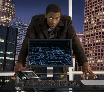 Hardison and his computer
