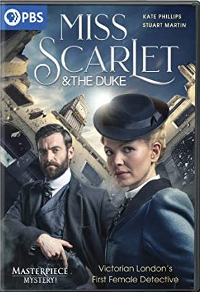"""""""Masterpiece Mystery!: Miss Scarlet and the Duke"""" DVD cover"""