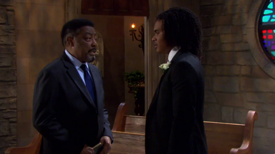 """Abe and Theo on """"Days of Our Lives"""" 8/9/21"""