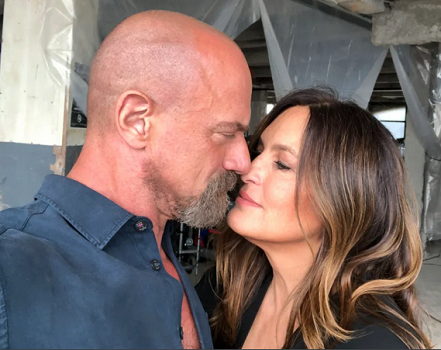"""Mariska Hargitay of """"Law & Order: Special Victims Unit"""" and Christopher Meloni of """"Law & Order: Organized Crime"""" on NBC"""